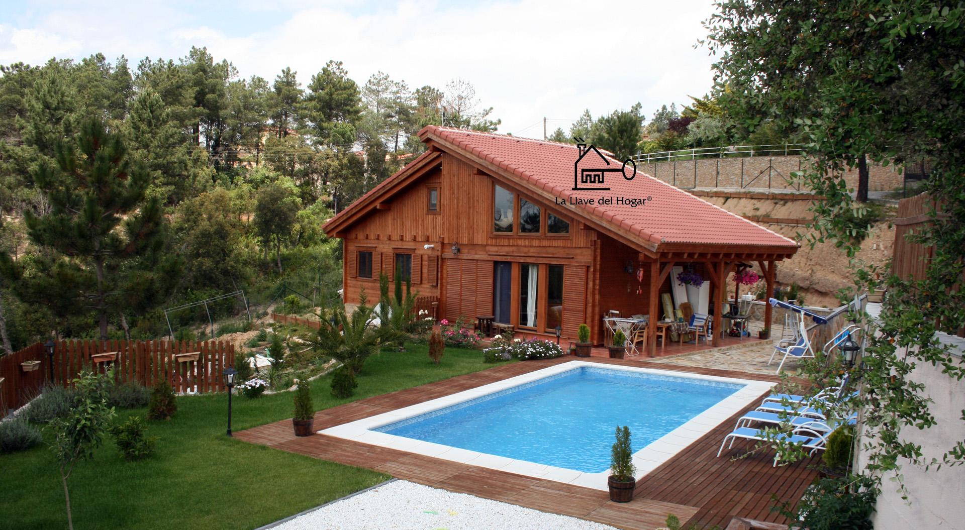 La llave del hogar casas de madera y entramado ligero for Casas de madera con piscina