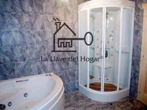 baño con bañera y ducha de hidromasaje