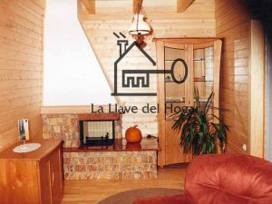 chimenea en casa de madera