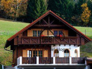 vivienda estilo tirolés de madera