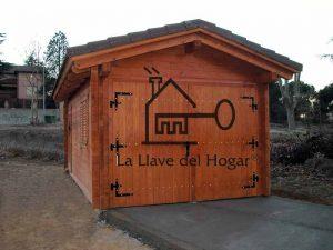 Garaje de madera de una plaza