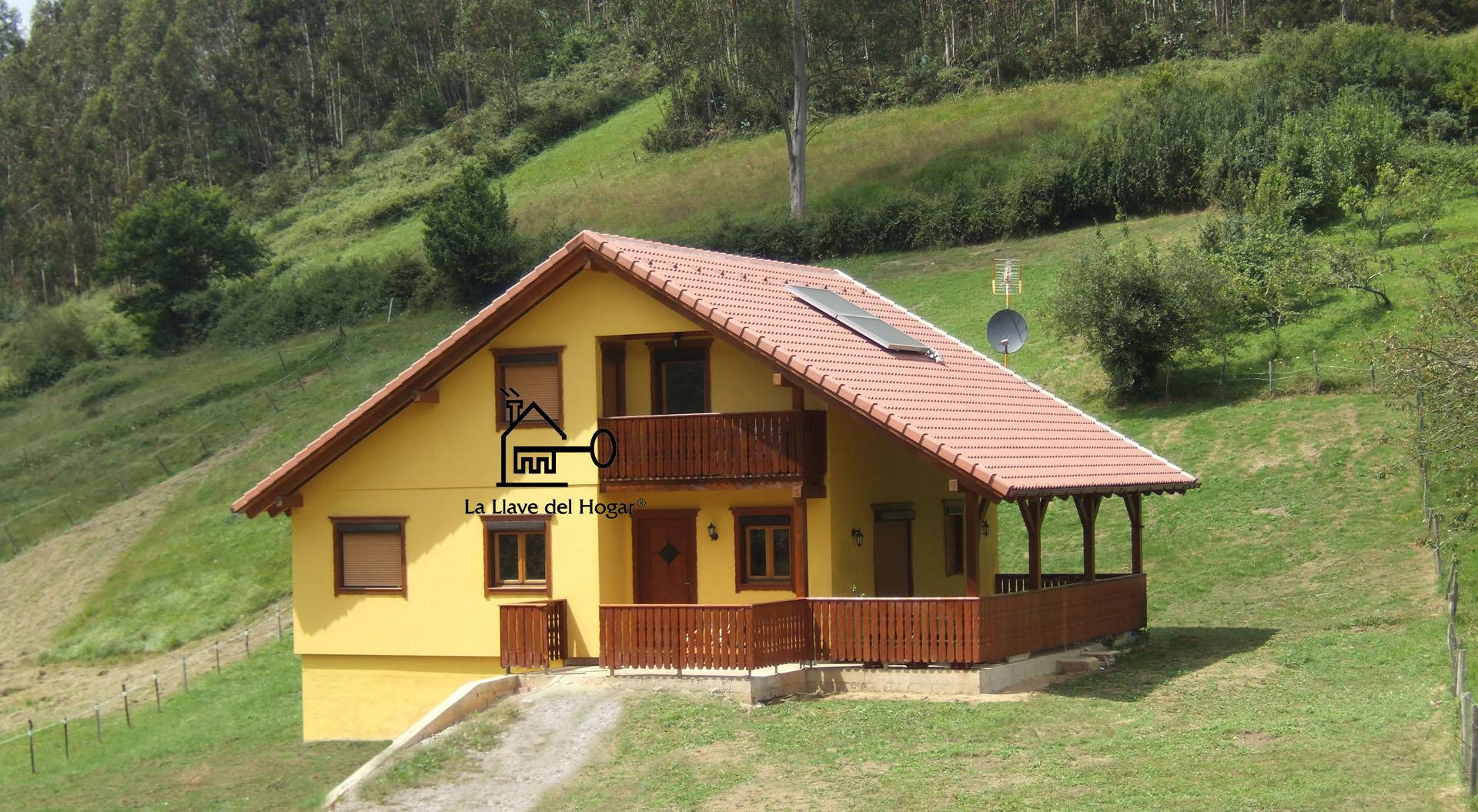 Casas de madera prefabricadas de entramado ligero con acabado obra tradicional