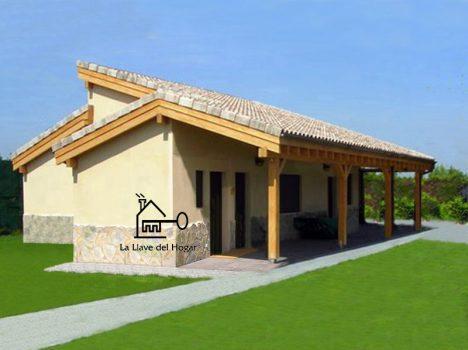 Casa prefabricada de entramado ligero modelo Benasque 97