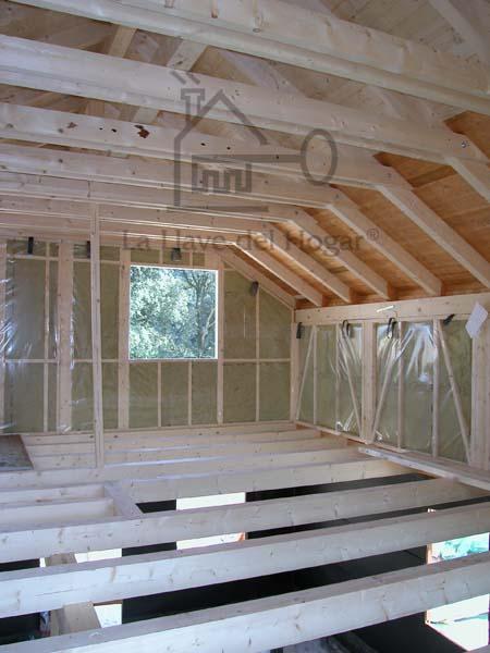 forjado de planta piso y forjado de cubierta con vigas de madera