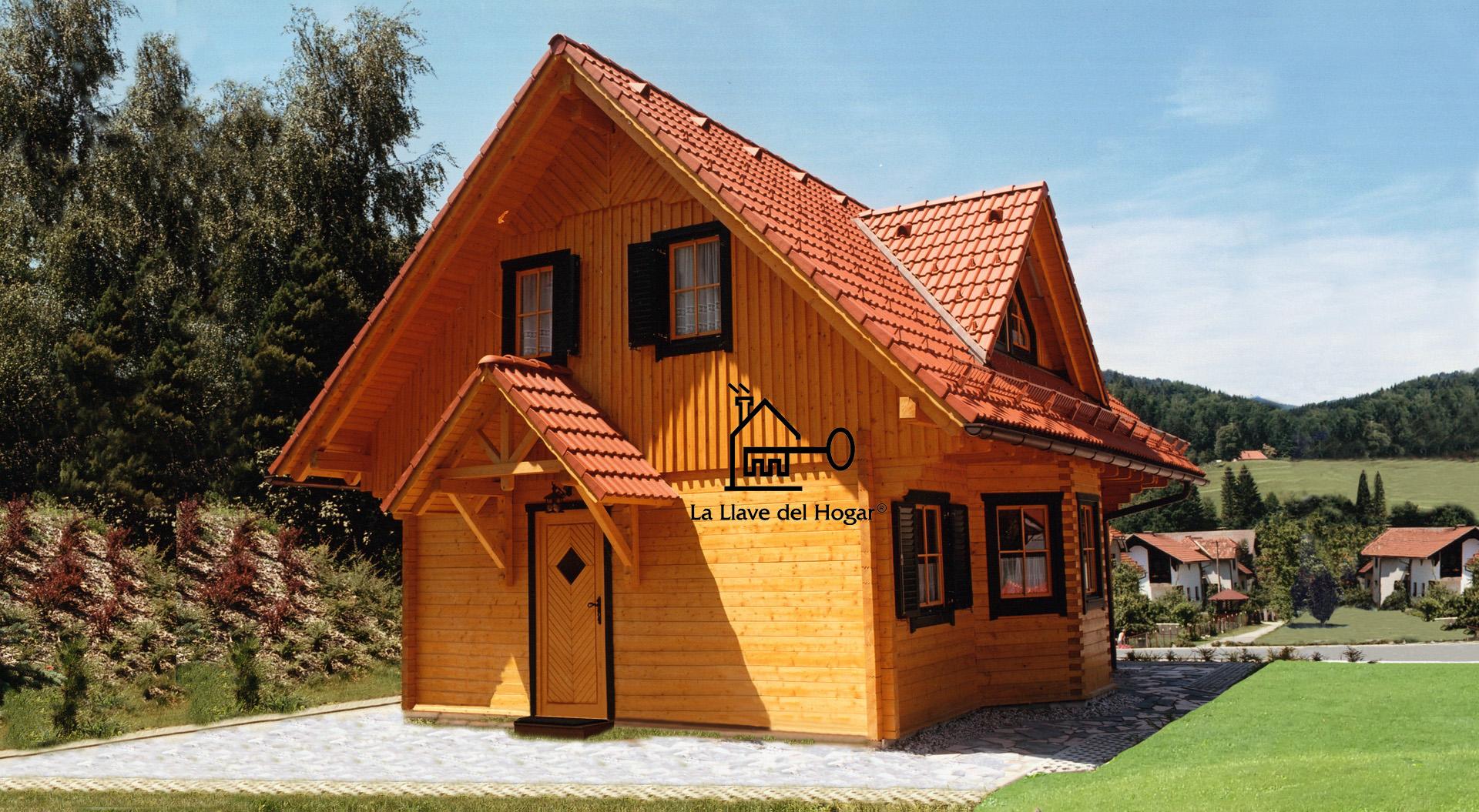 Teide 105m casas de madera la llave del hogar - Cocheras de madera prefabricadas ...