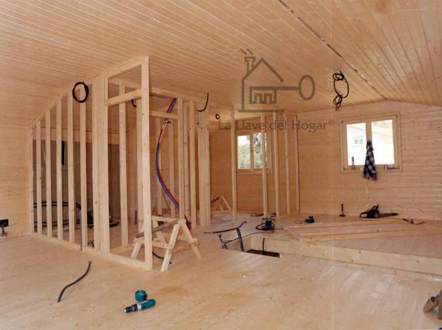 Sistema europeo de tronco recto con estructura y - Casas con estructura de madera ...