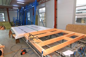 zona de trabajo de estructura de madera