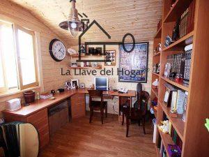 despacho de diseño integrado en vivienda de madera