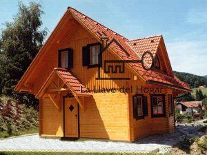 casa modelo Teide con tejado inclinado para la nieve