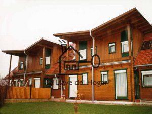 casas de madera apareadas