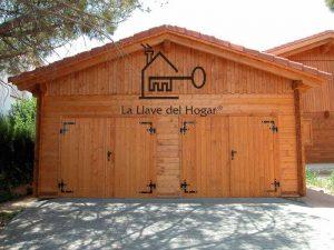 Garaje de madera para 2 coches