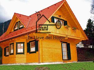 casa estilo alta montaña con mansardas
