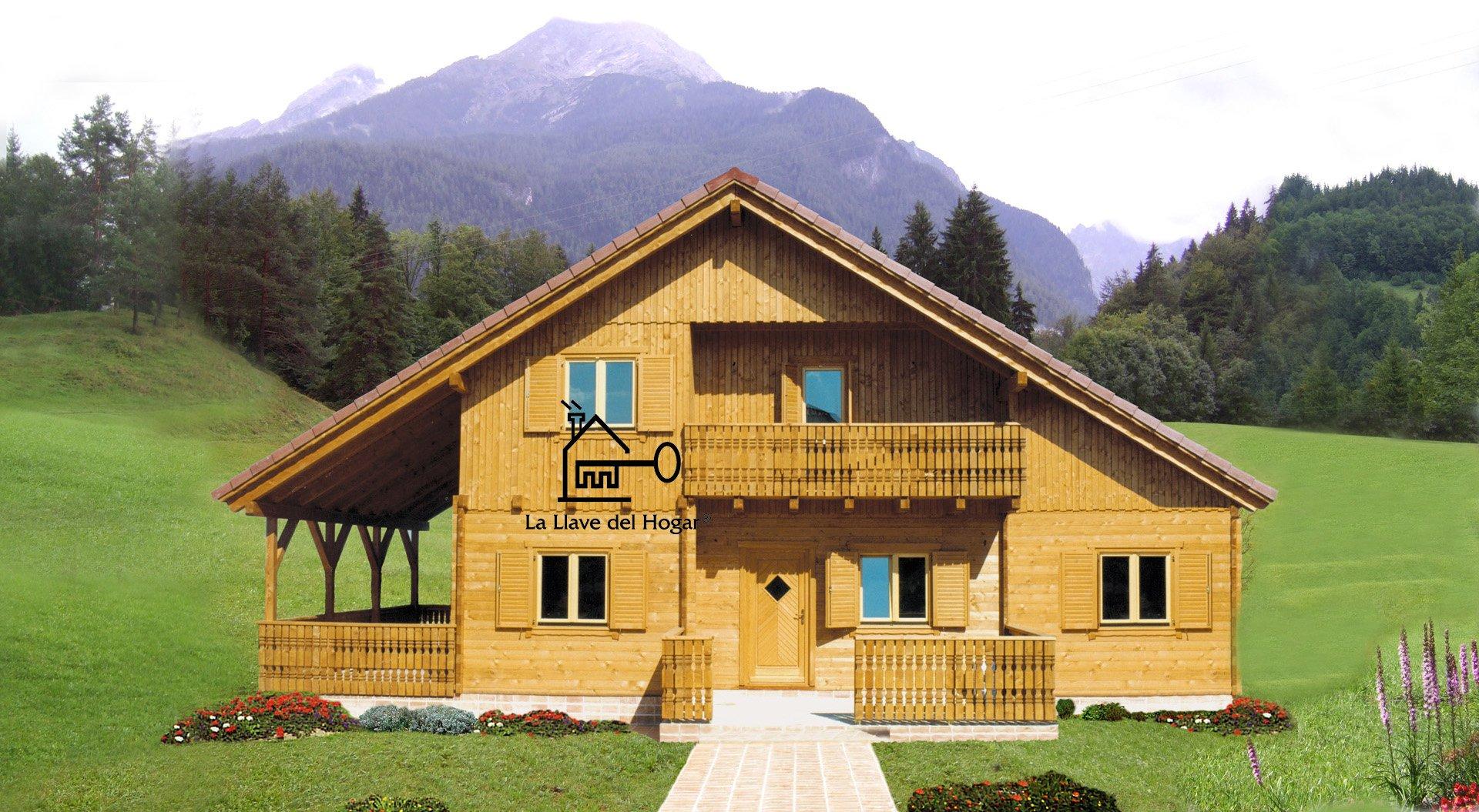 La llave del hogar casas de madera y entramado ligero for Casas prefabricadas de madera precios
