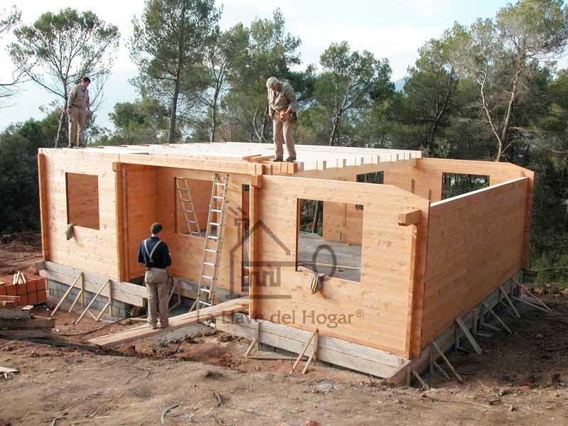 Construcción del forjado de planta piso con estructura de madera
