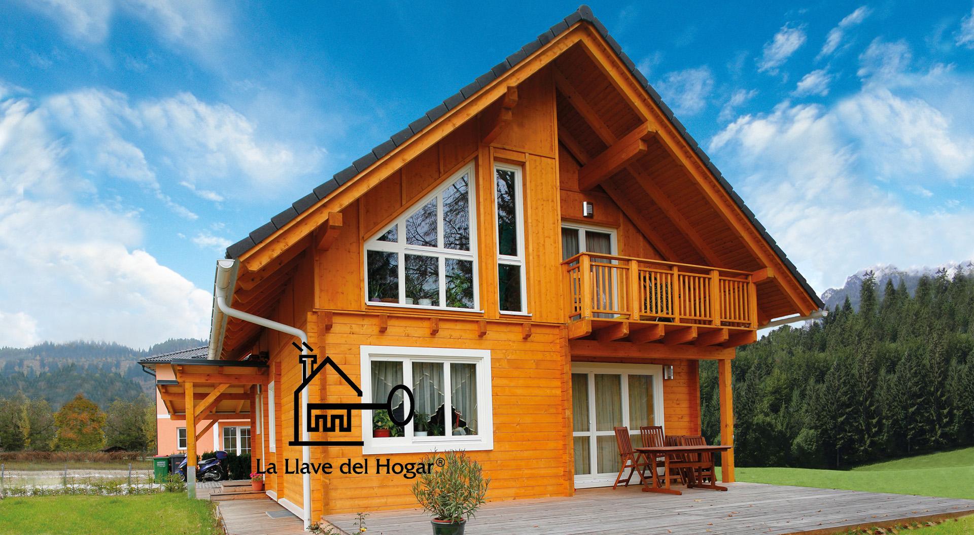 Ventanas de madera blancas top vinilo para cristal y - Casas de madera blancas ...
