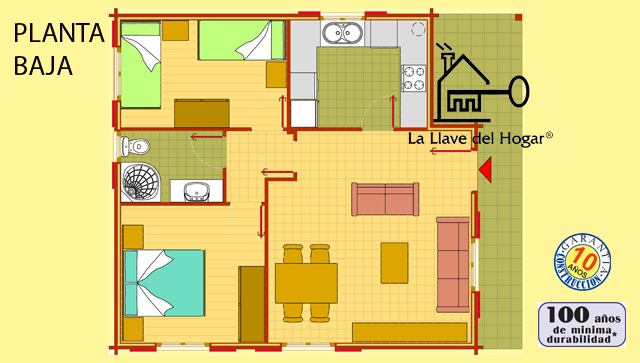Turb n 85m casas de madera la llave del hogar - La llave del hogar ...
