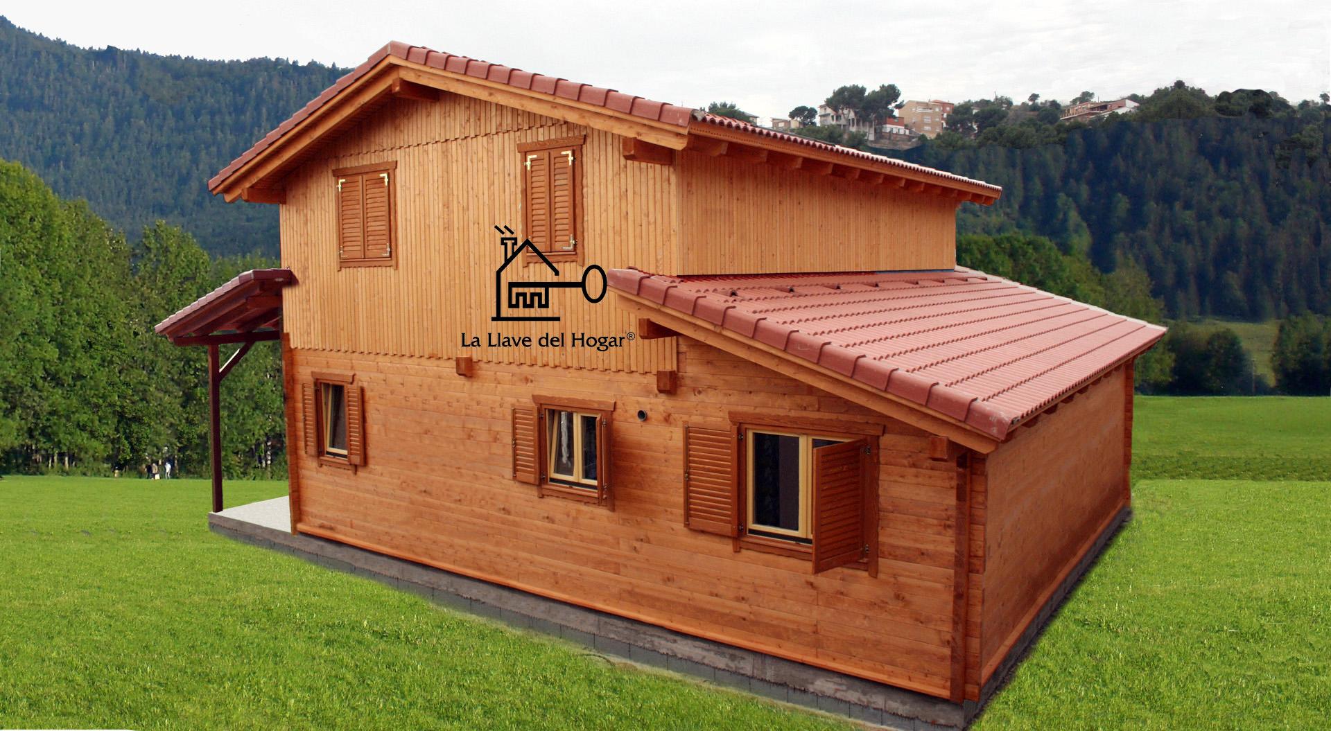 Pe alara plus 180m casas de madera la llave del hogar - La llave del hogar ...