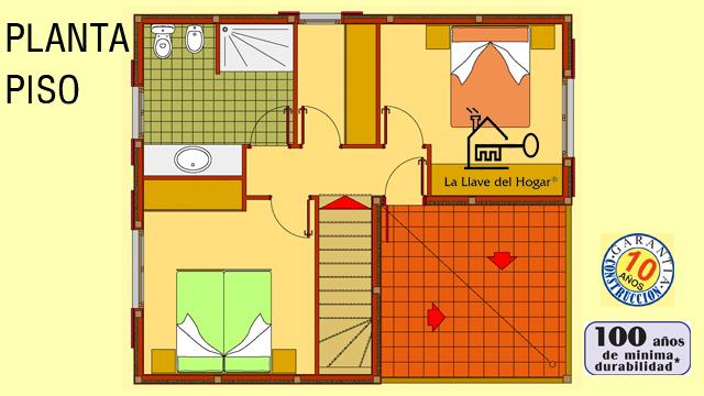 San pol 130m casas de madera la llave del hogar - La llave del hogar ...
