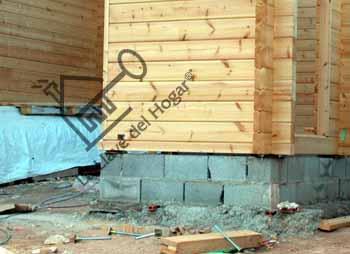 el tipo de base de sustentacin de la casa es similar al de las casas de madera con tableros pero en este caso se prescinde de vigas ya que la estructura