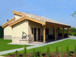 casa de madera prefabricada sistema entramado ligero modelo Benasque