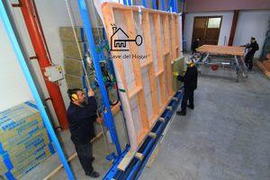 fabricación de estructura de entramado ligero