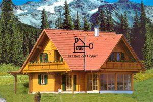 casa de madera alpina