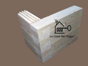 uniones de troncos de casas de madera con cola de milano