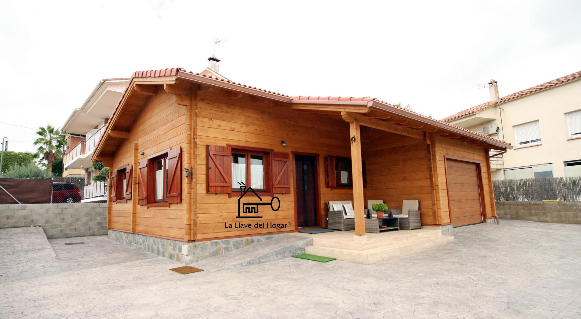 Valencia 95 m casas de madera la llave del hogar for Casas de madera valencia